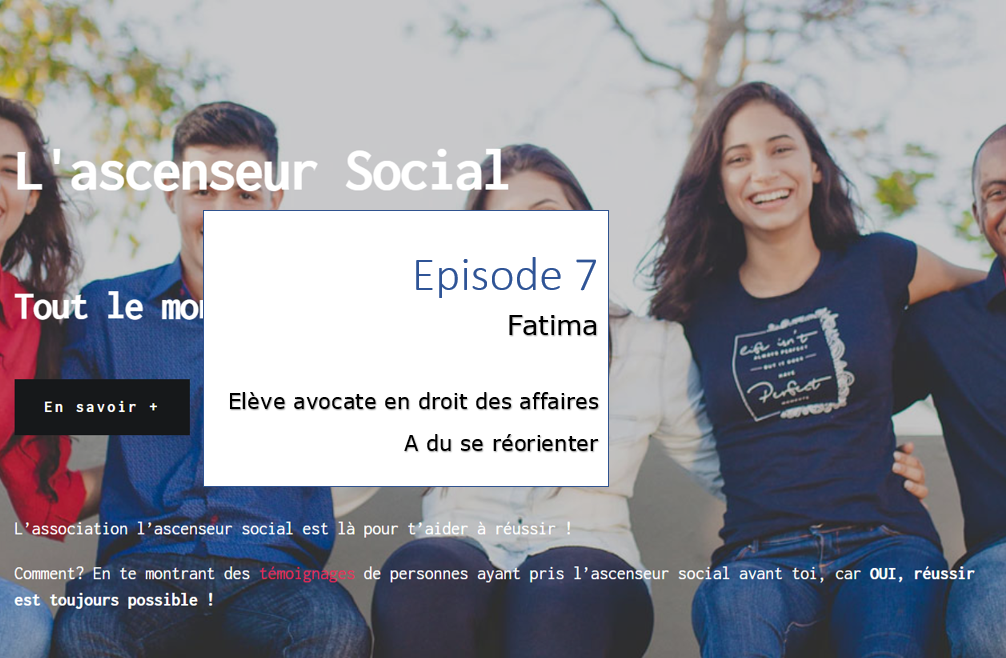 fatima podcast ascenseur social