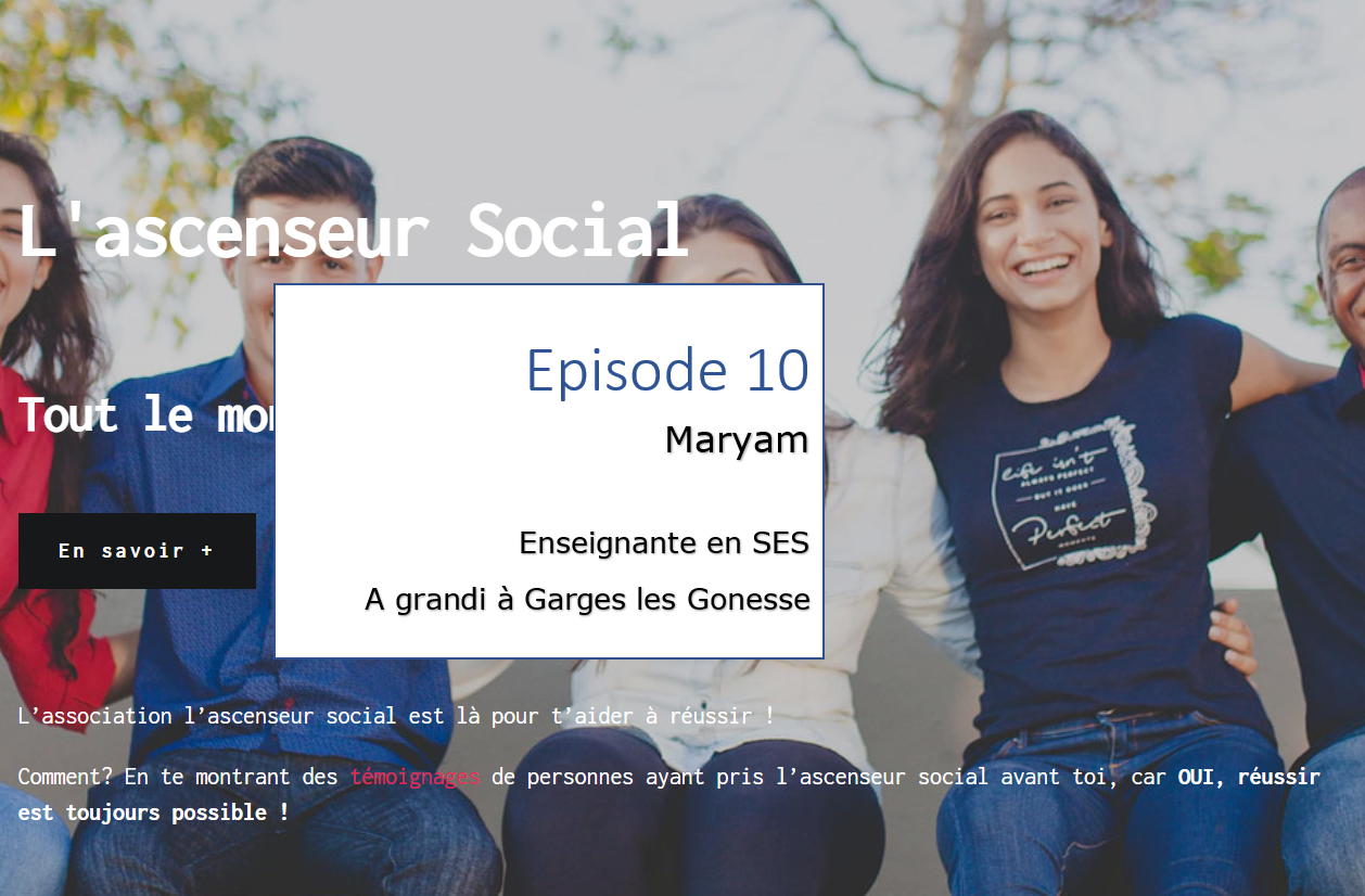 Maryam Temoin ascenseur social